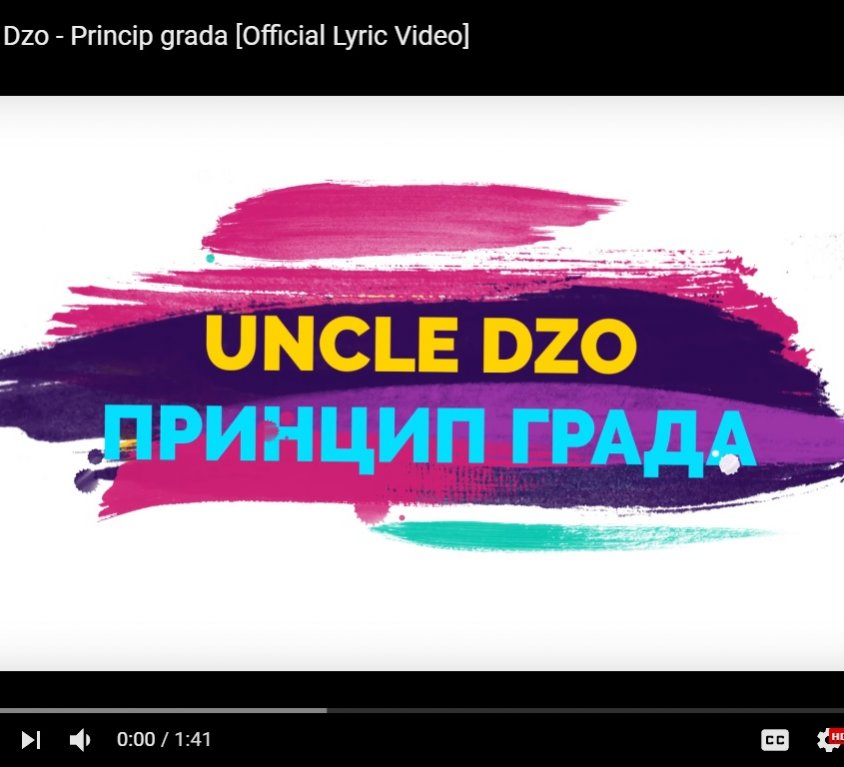 Uncle Dzo – Princip grada